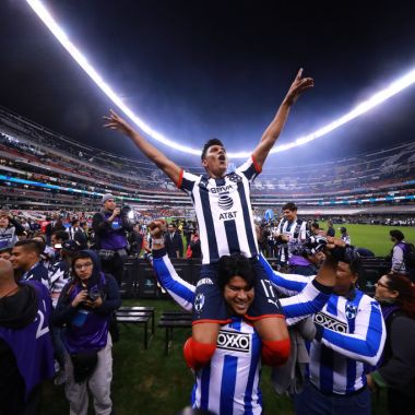 29/12/2019. Jesús Gallardo Monterrey América Festejo Los Pleyers, Jesús Gallardo festeja el título con Rayados.