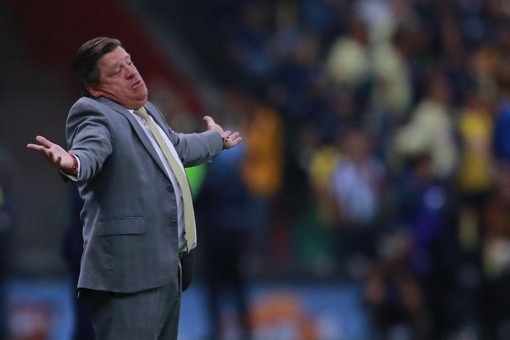 29/12/2019. Miguel Herrera América Refuerzo Jugadores Los Pleyers, Miguel Herrera en la Final del Apertura 2019.