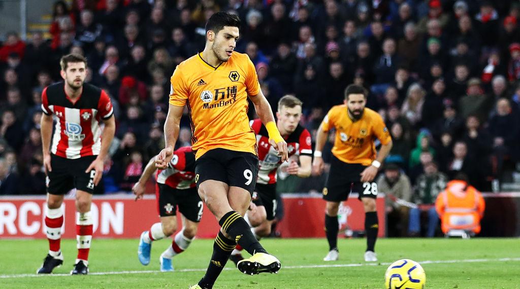 18/01/2020, Raúl Jiménez anota el gol del empate en el Southampton vs Wolves
