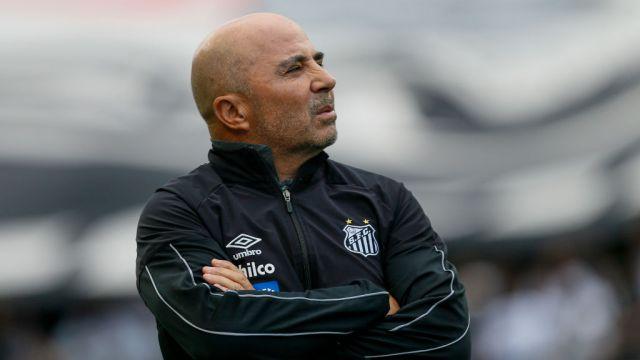 26/20/2019. Sampaoli Chivas Tena Entrenador Los Pleyers, Jorge Sampaoli en un partido con Santos de Brasil.