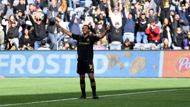 01/03/2020. Carlos Vela anotó un gol de tiro libre ante el Philadelphia Union en la Jornada 2 de la MLS 2020