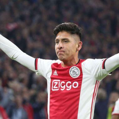 02/03/2020. Edson Álvarez Ajax Galaxy Tottenham Los Pleyers, Edson festeja un gol.