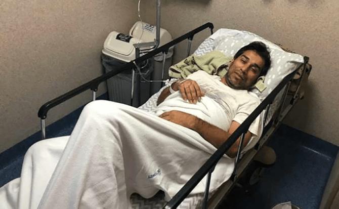 04/03/2020. Nelson Cuevas Dengue Los Pleyers, Nelson Cuevas en un hospital.