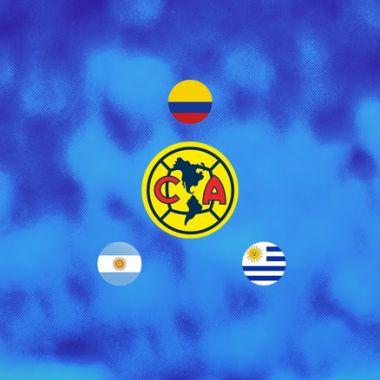 23/04/2020. América Obsesion Sudamericanos Fichajes Los Pleyers. Escudo del América y otros países.