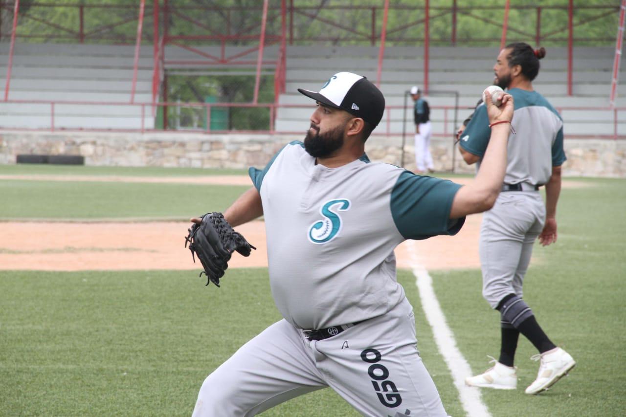 03/04/2020 Jorge Luis Ibarra, Saraperos, Saltillo, LMB, Coronavirus, Entrenamiento, El Foco durante entrenamiento