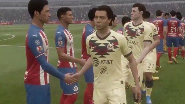 11/04/2020. Liga MX Fifa 20 Caras Nivel Los Pleyers, Chivas vs América en el FIFA 20
