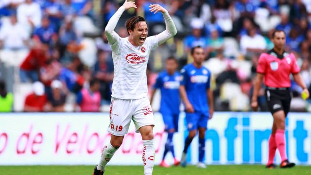 07/03/2020. Cubo Torres Ebrio Accidente Atropellar Los Pleyers, Érick Torres festeja un gol en el Clausura 2020.