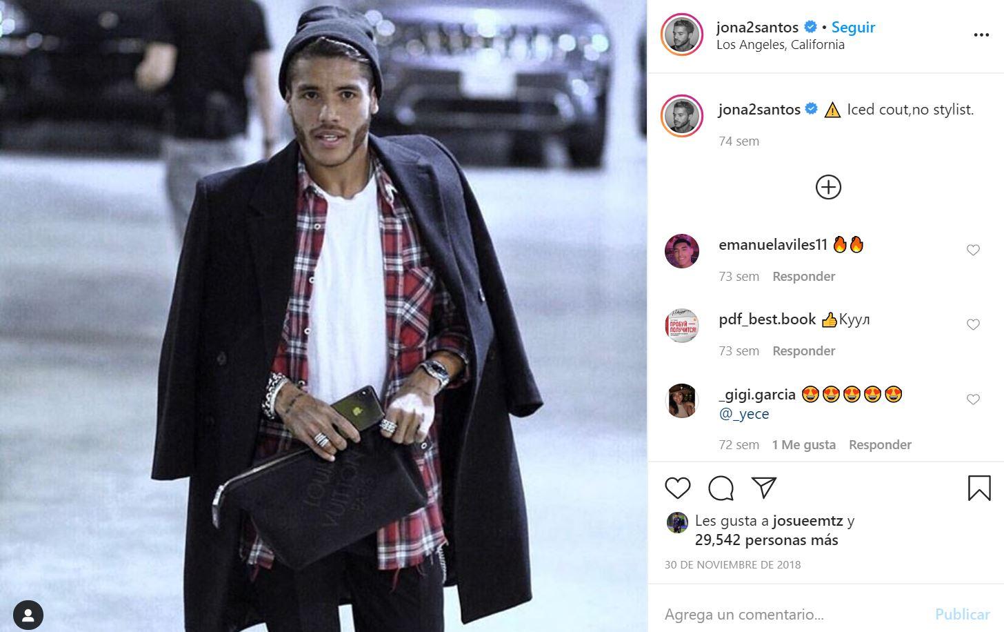30/11/2018, Jonathan dos Santos quiere dedicarse a la moda tras su retiro y ser como Beckham