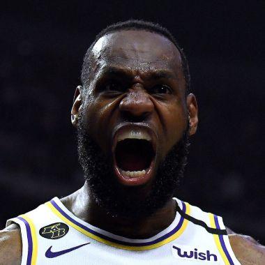 08/03/2020. LeBron James Nba Cancelación Temporada Los Pleyers, LeBron James eufórico.
