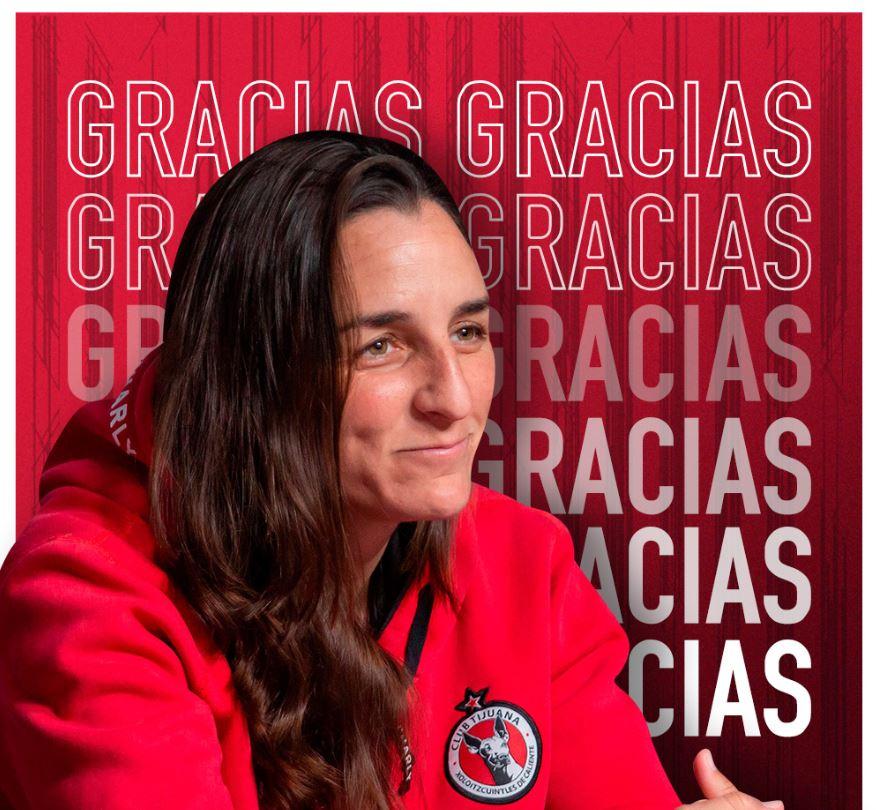 25/05/2020, Corren a Carla Rossi como entrenadora queda fuera de Tijuana de la Liga MX Femenil