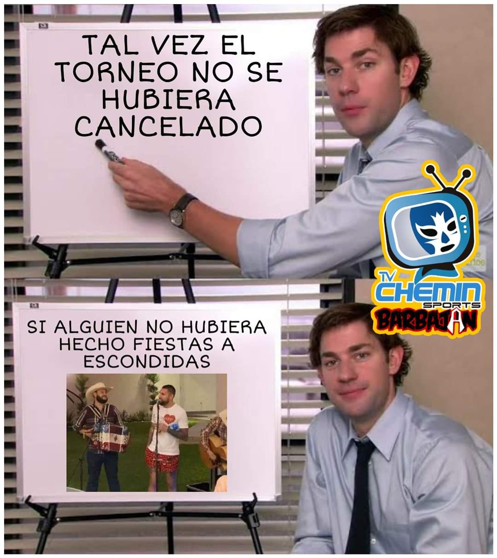 22/04/2020. Meme Cancelación Liga MX Los Pleyers, Meme respecto a la cancelación de la Liga MX.