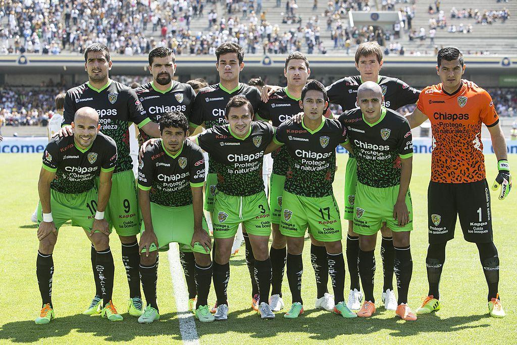 06/04/2014. Puebla Veracruz Jaguares Colibríes Los Pleyers, Jaguares de Chiapas en un partido de Liga MX.