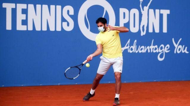 02/05/2020. Tenis Alemania Regreso Actividad Los Pleyers, Tenista con cubrebocas.