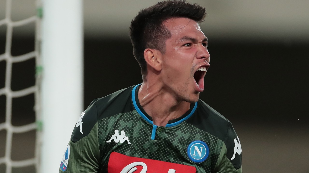 Hirving Lozano anota gol en el Napoli vs Genoa 08/07/2020