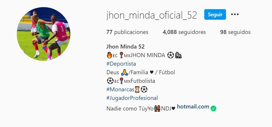 Jhon Fernando Minda, el falso fichaje del Atlético Morelia 18/07/2020