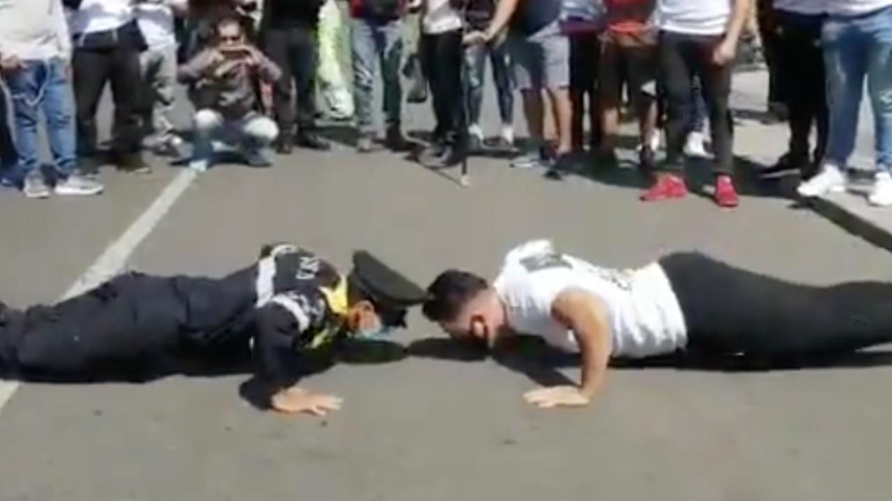 Policía deja en ridículo a instructor de gimnasio [Video]