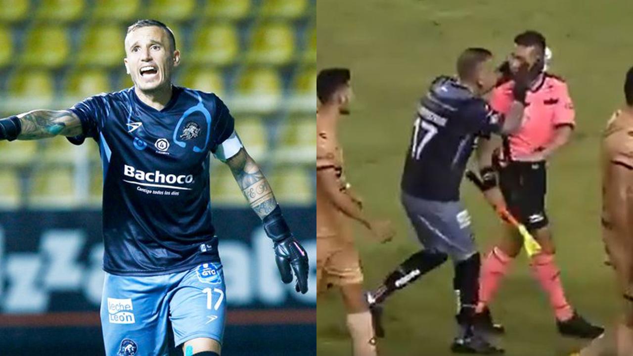 Cristian Campestrini jalonea a árbitro en Liga de Expansión