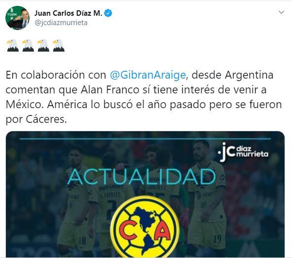 Tuis Alan Franco América Los Pleyers