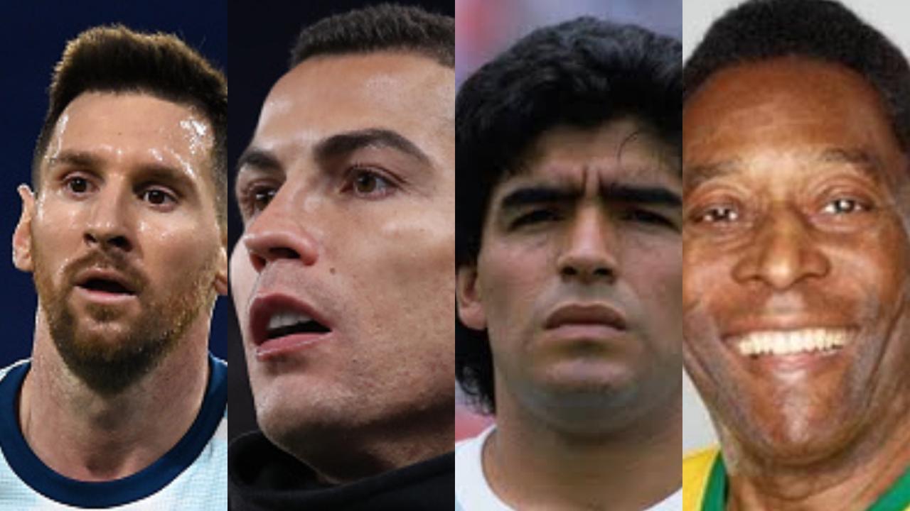 Messi Cristiano Maradona y Pelé están en el Dream Team