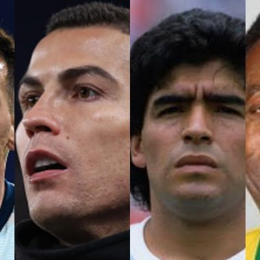 Messi Cristiano Maradona y Pelé están en el Dream Team