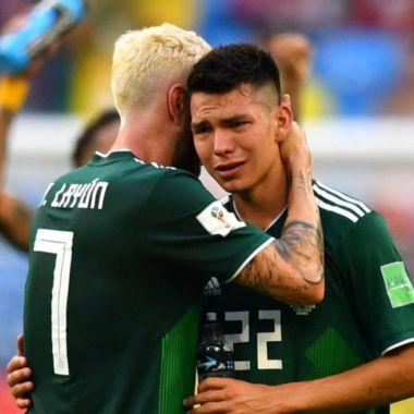 Miguel Layún y Chucky Lozano tristes por eliminación 2018