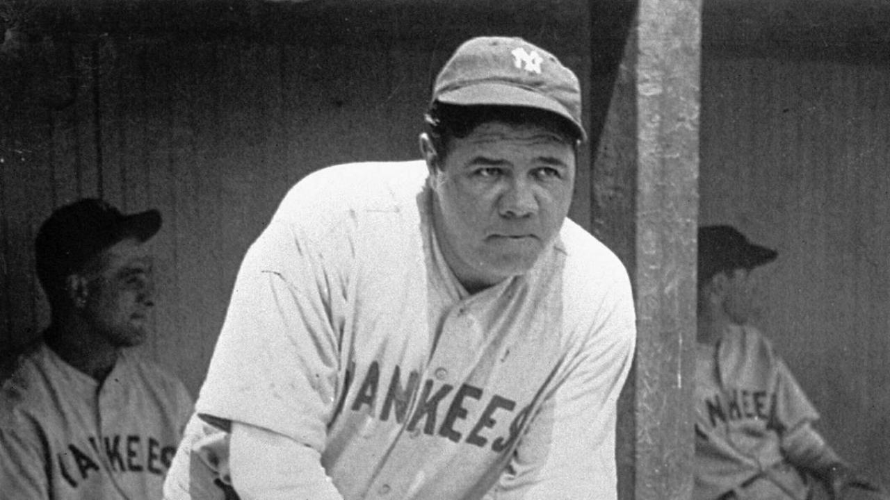 Babe Ruth jugando para Yankees