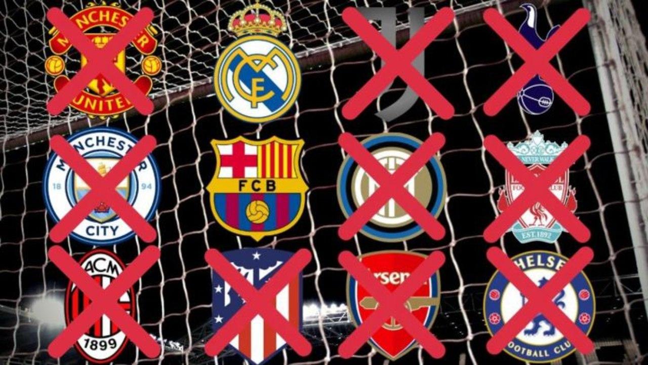 Atlético de Madrid, Inter de Milán, Juventus y AC Mila superliga