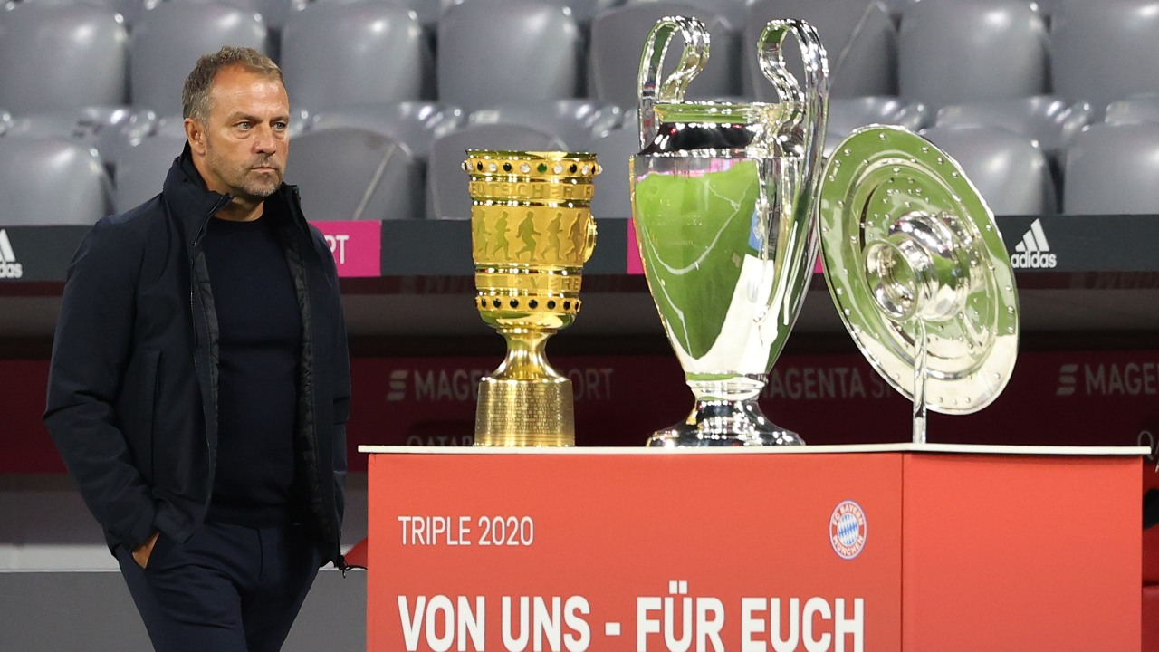 Bayern Múnich hansi flick trofeos triplete