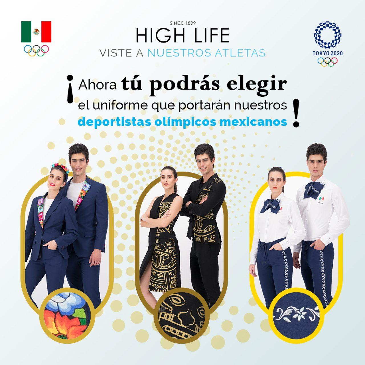 COM uniformes atletas mexicanos votación Tokio 2020
