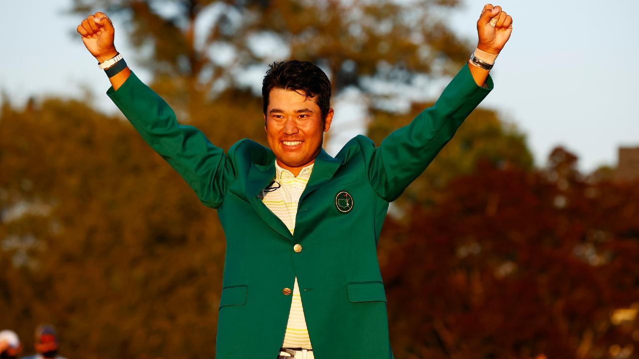 Hideki Matsuyama master augusta golf green jacket