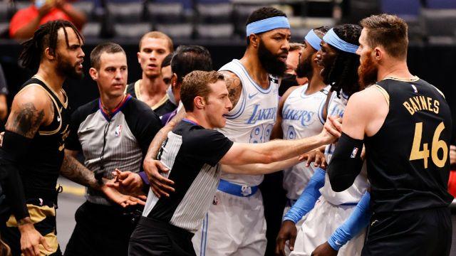 NBA lakers toronto bronca suspensión 2021