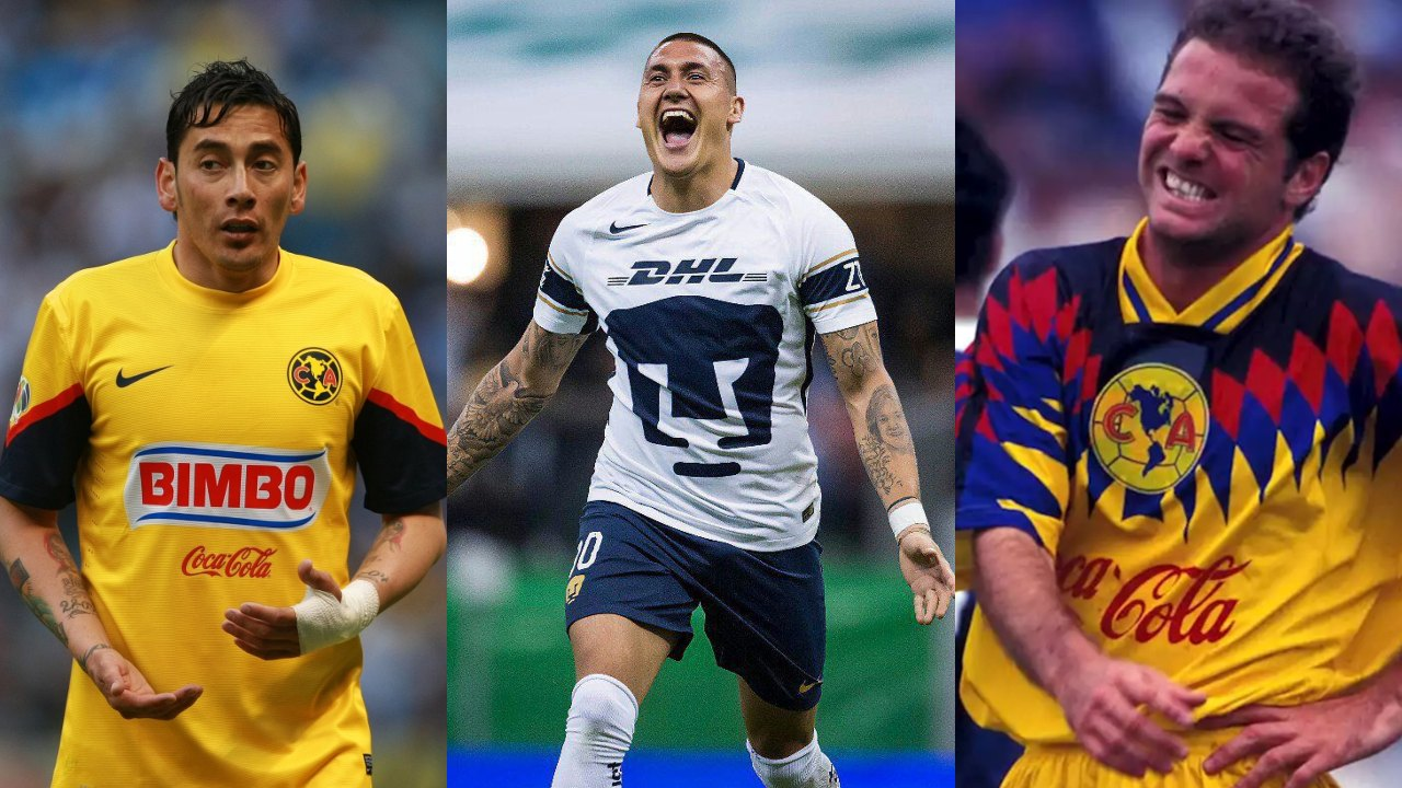 Pumas América jugadores vistieron ambos colores