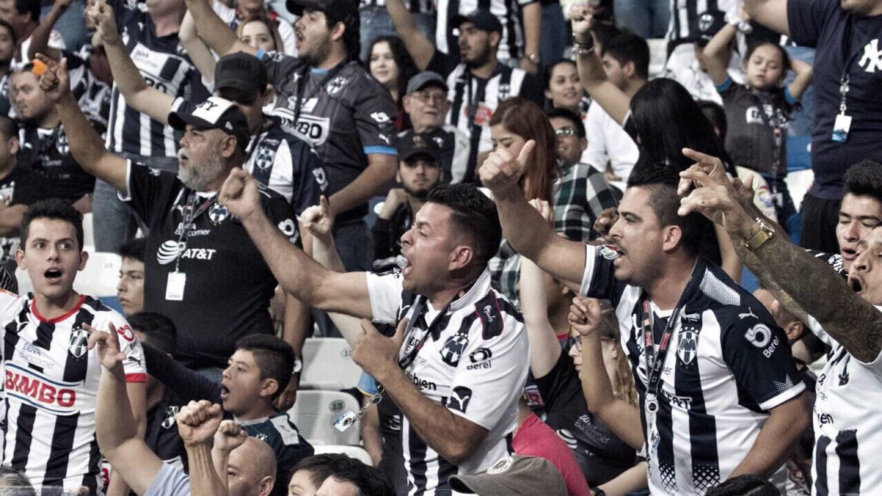 Rayados Estadio BBVA aficionados Concachampions