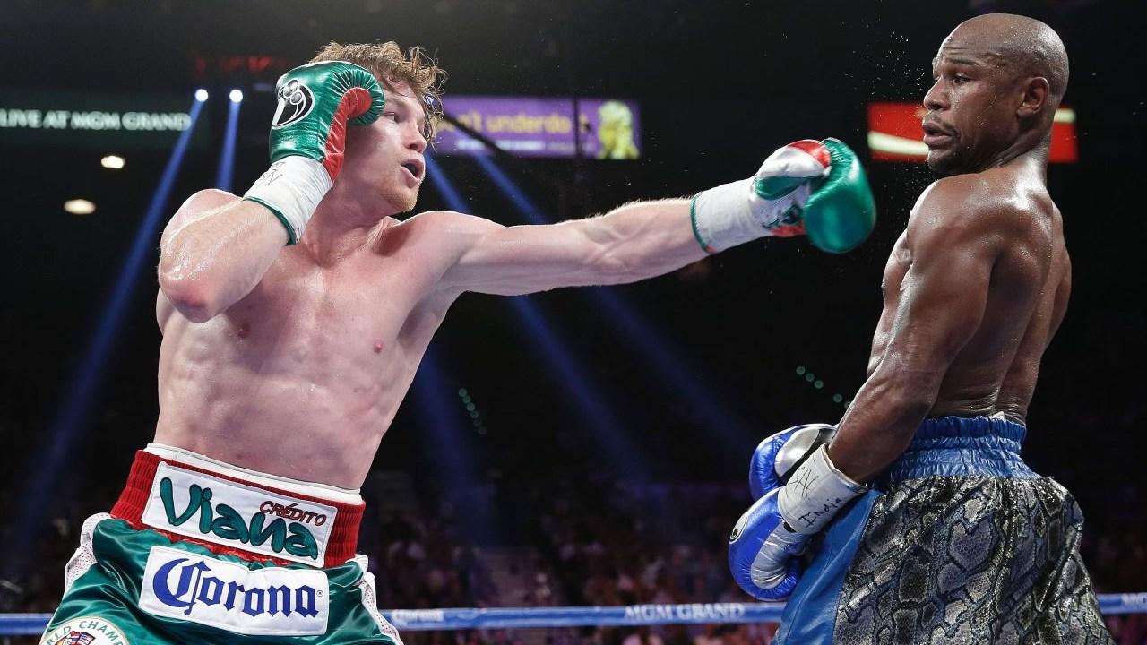 Saúl 'Canelo' Álvarez Floyd Mayweather Jr. pelea segundo combate box