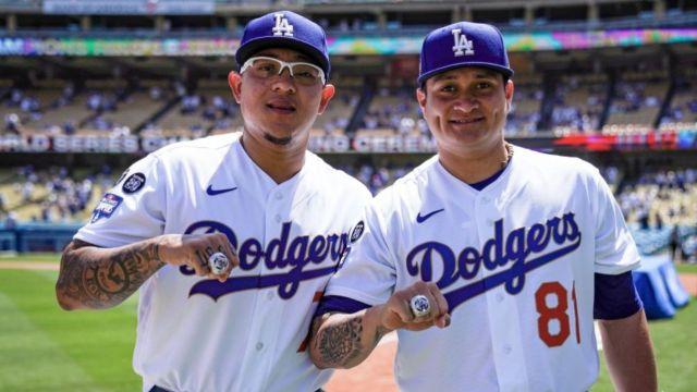 Dodgers recibe anillos campeones Serie Mundial