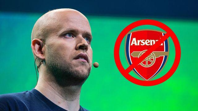 Arsenal oferta rechazada Spotify Daniel Ek
