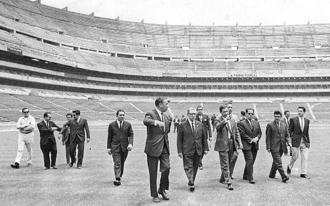 Inauguración Estadio Azteca recorrido 1966