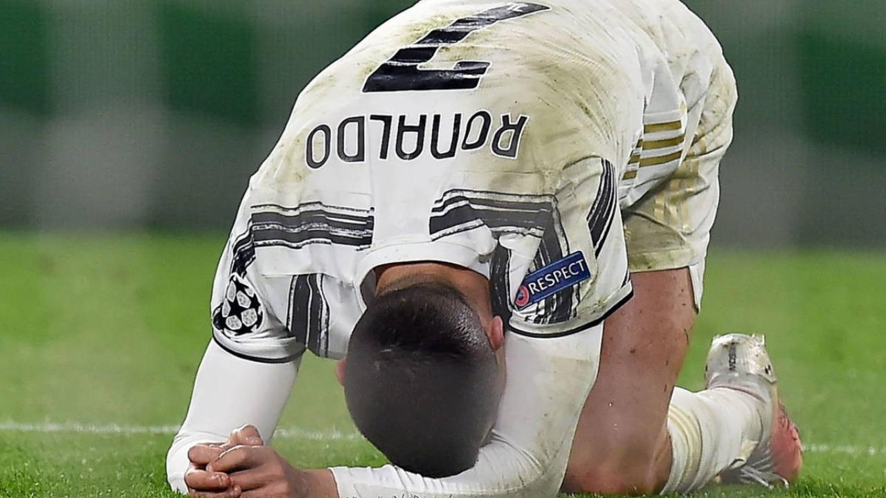Cristiano Ronaldo lamentándose