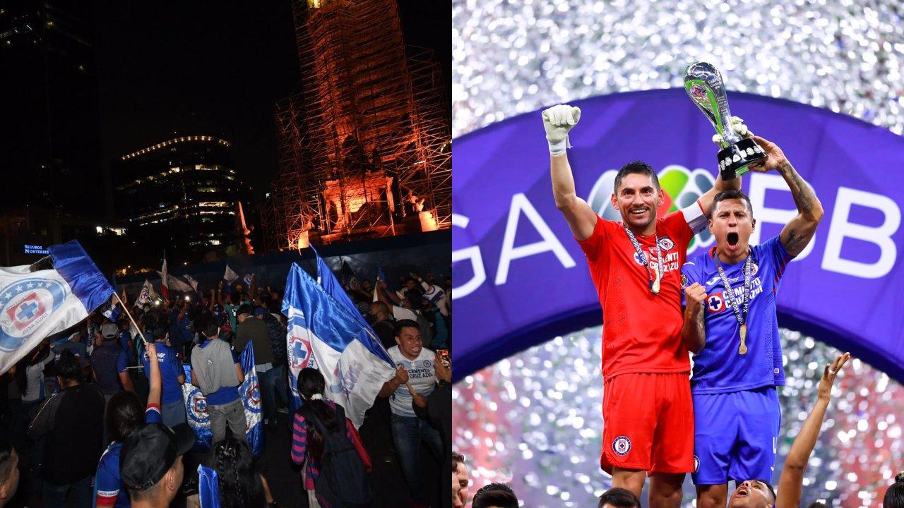 Aficionados Ángel de la Independencia Cruz Azul