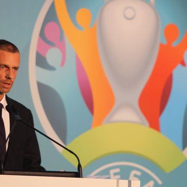 Aleksander Čeferin, presidente de la UEFA Christian Eriksen