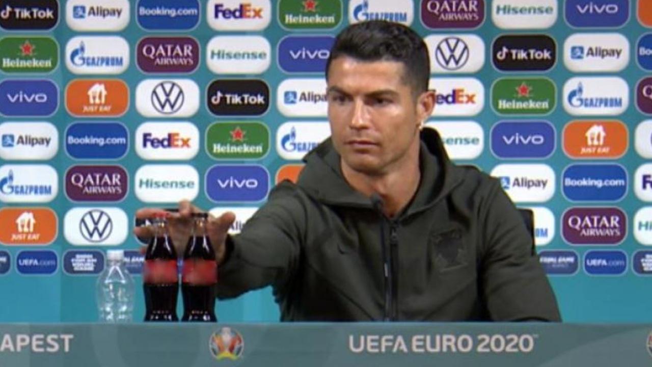 Cristiano Ronaldo nunca deja la dieta y su reacción ante el refresco lo demuestra