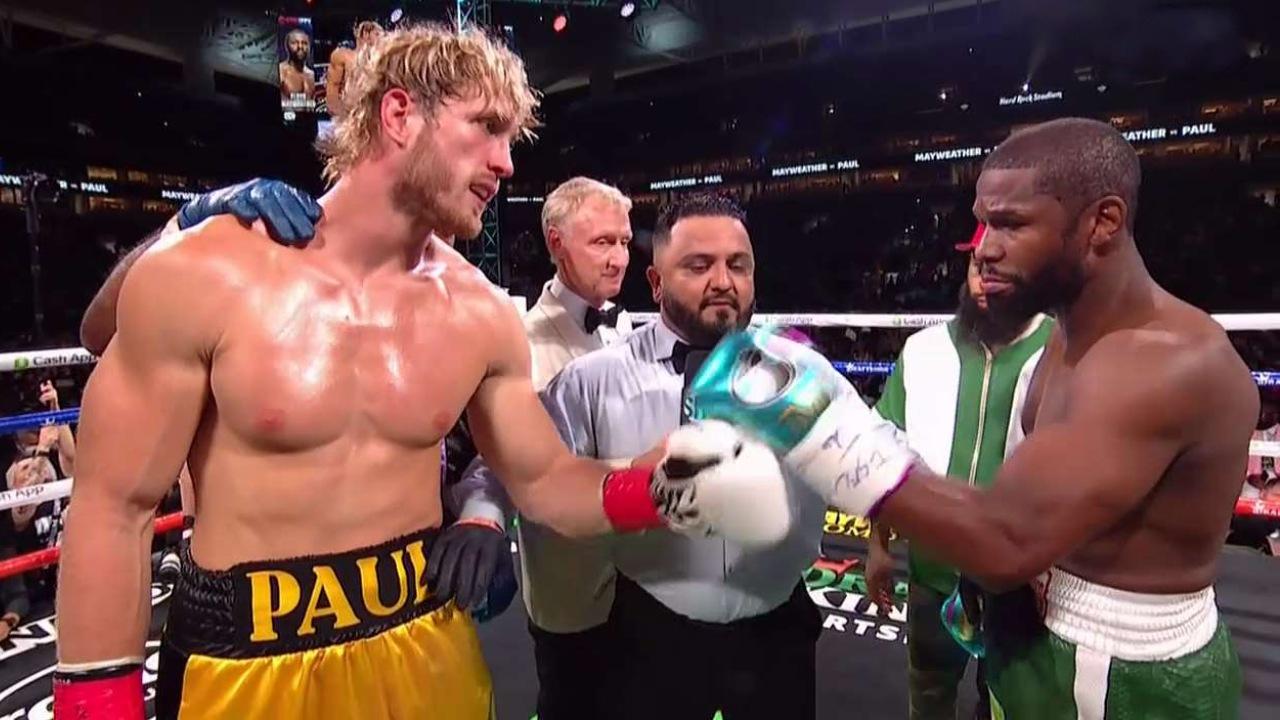 Floyd Mayweather Jr. Logan Paul box boxeo pelea