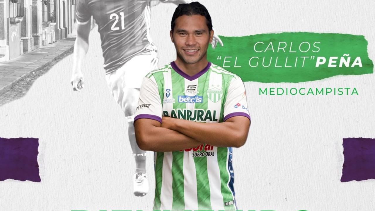 Gullit Peña es nuevo jugador de Antigua GFC de Guatemala