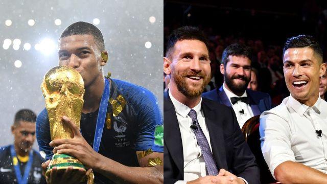 Kylian Mbappé Cristiano Ronaldo Lionel Messi
