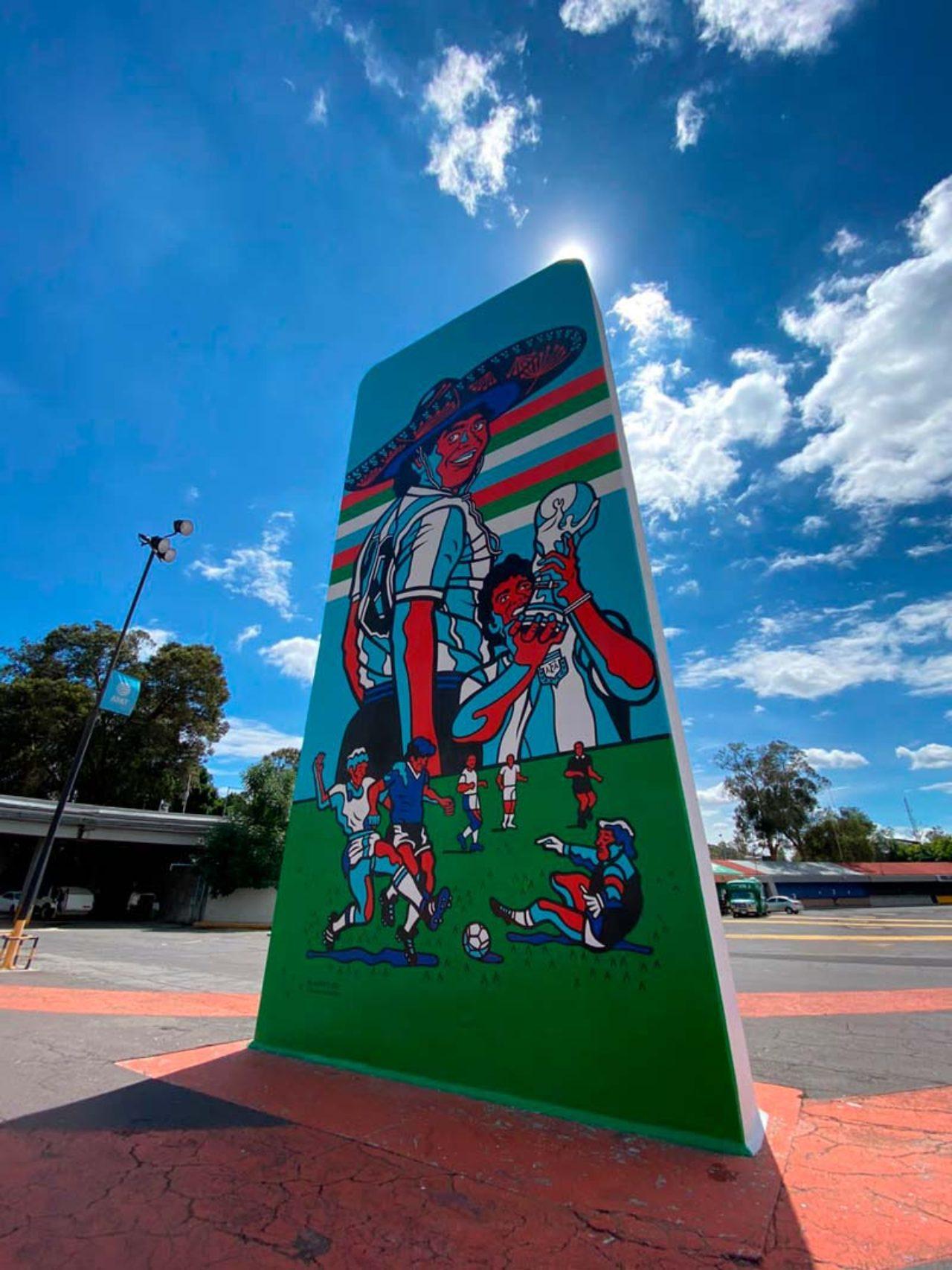 Diego Armando Maradona monumento estadio azteca