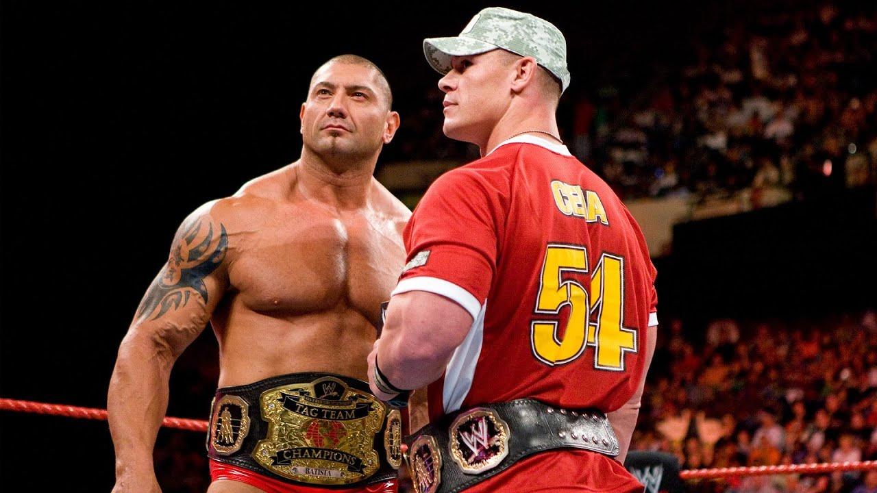 John Cena campeonatos parejas Batista