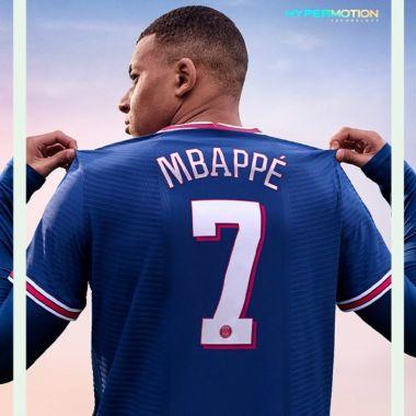 Kylian Mbappé FIFA 22 portada juego