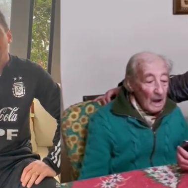 Messi manda emotivo mensaje a Don Hernán, el abuelo que anota todos sus goles a mano