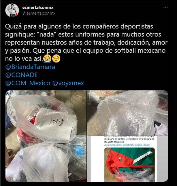 Tokyo 2020: Denuncian a jugadoras mexicanas de softbol por tirar sus uniformes a la basura