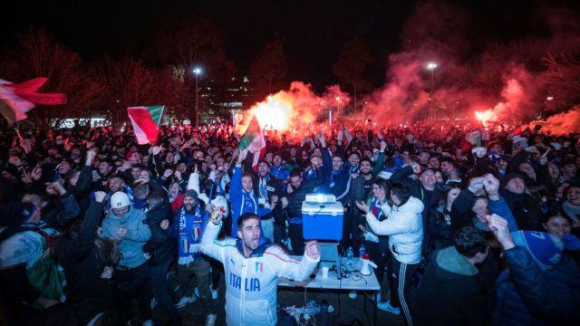 Celebración Italia Eurocopa 2020